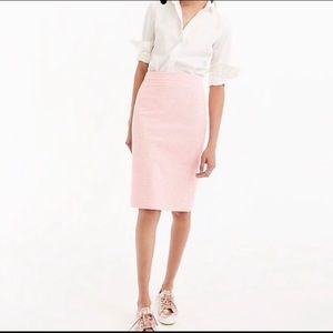 J. Crew No2 Pencil Skirt in Pink Gingham